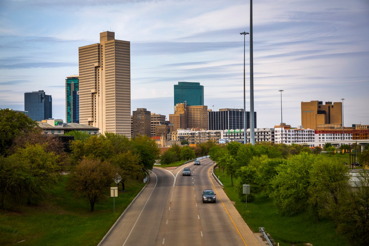 View of downtown Fort Worth
