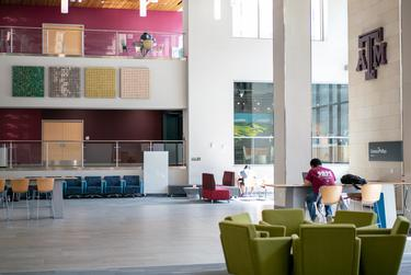 A Daniel Rozin art installation at the Zachry Engineering Education Complex building in Texas A&M University.
