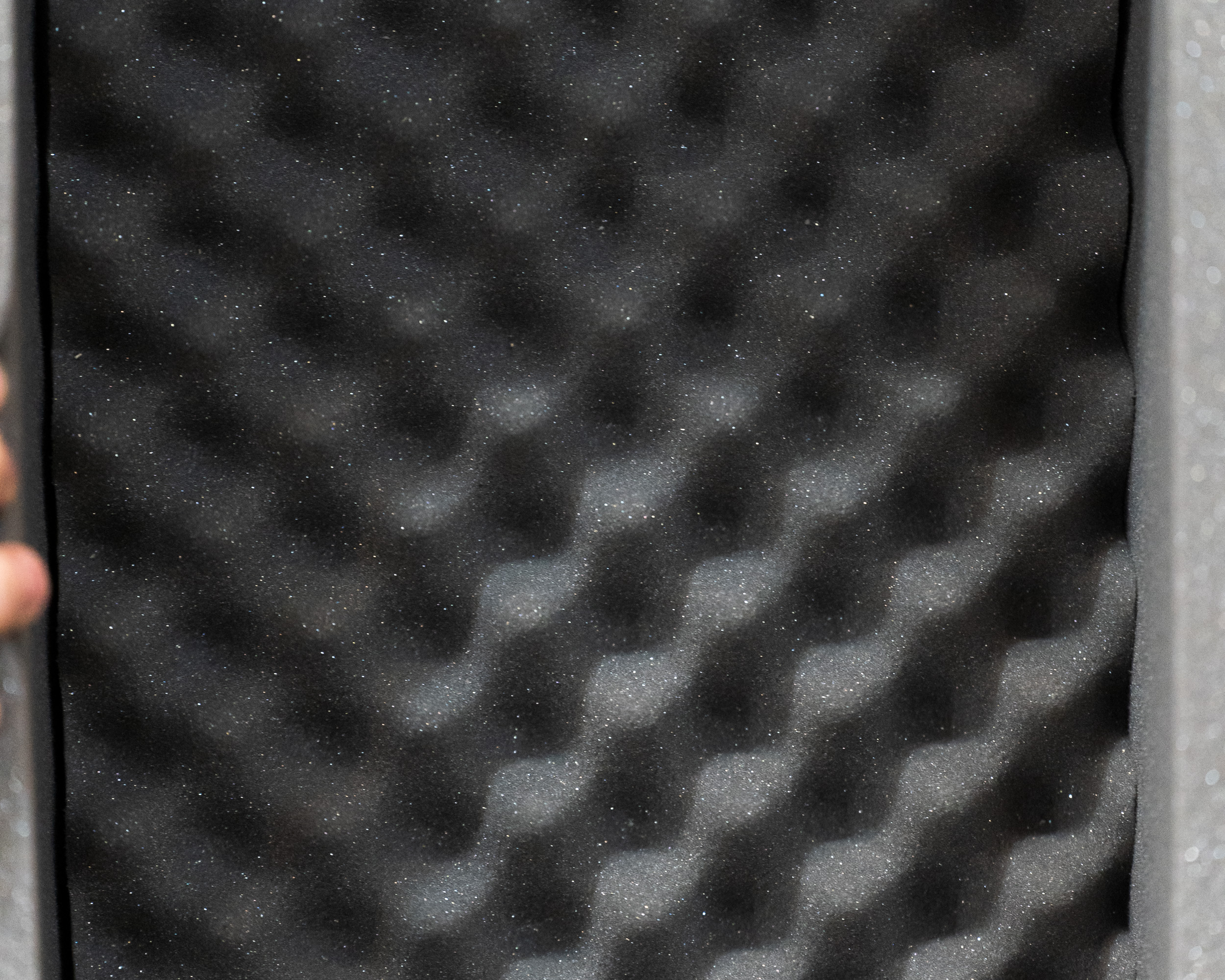 Black foam pads with indentions