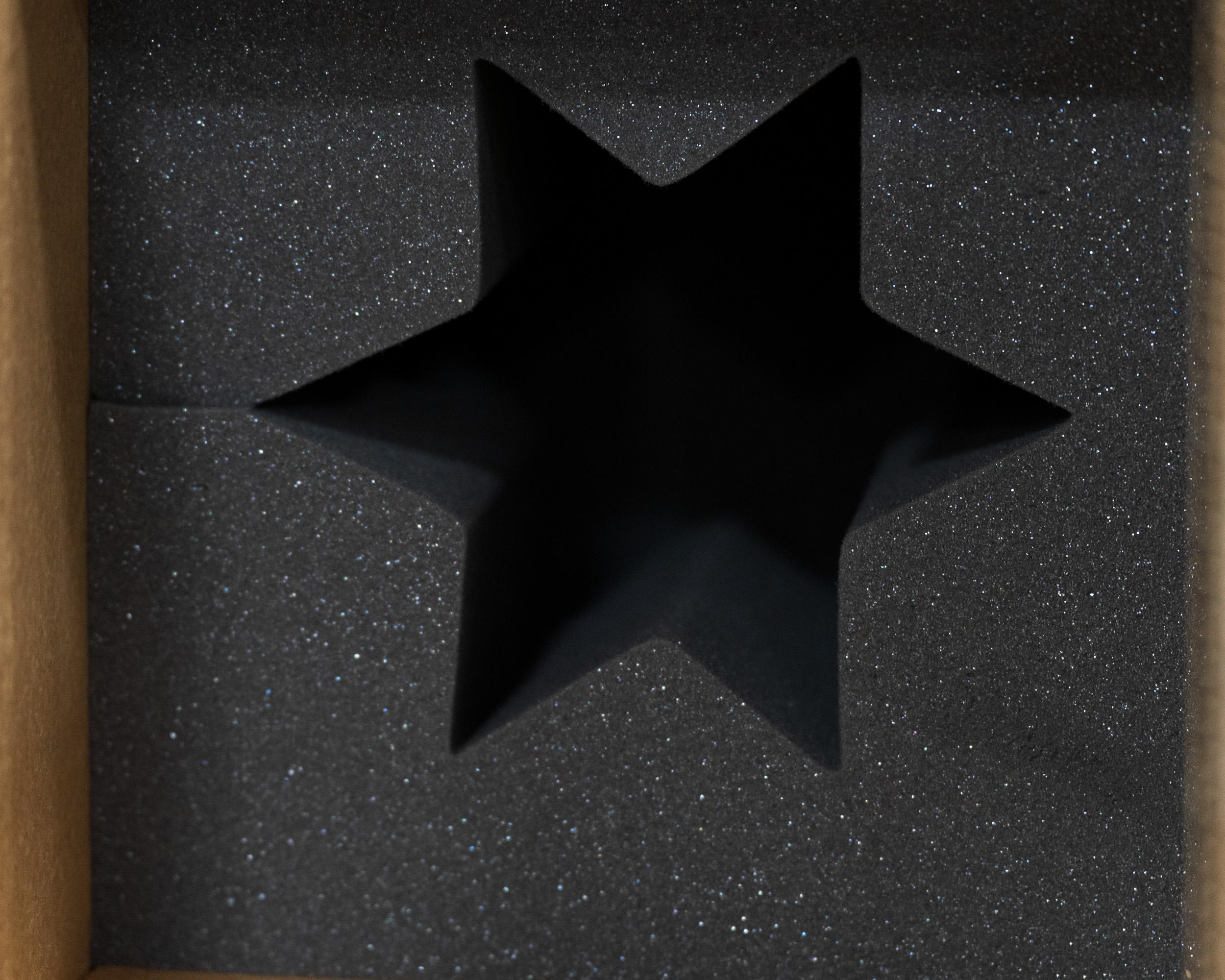 A foam pad with a star design