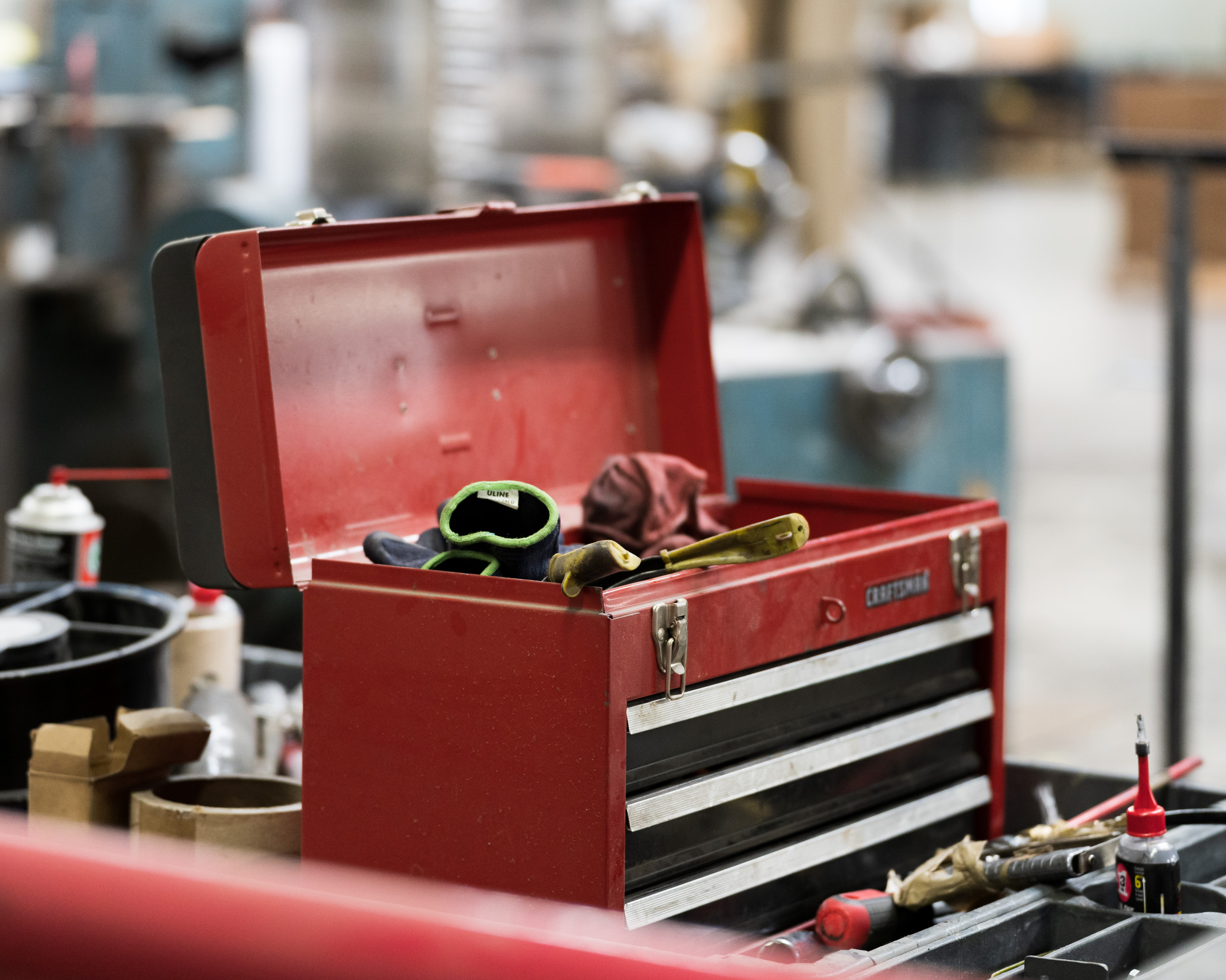 A red toolbox