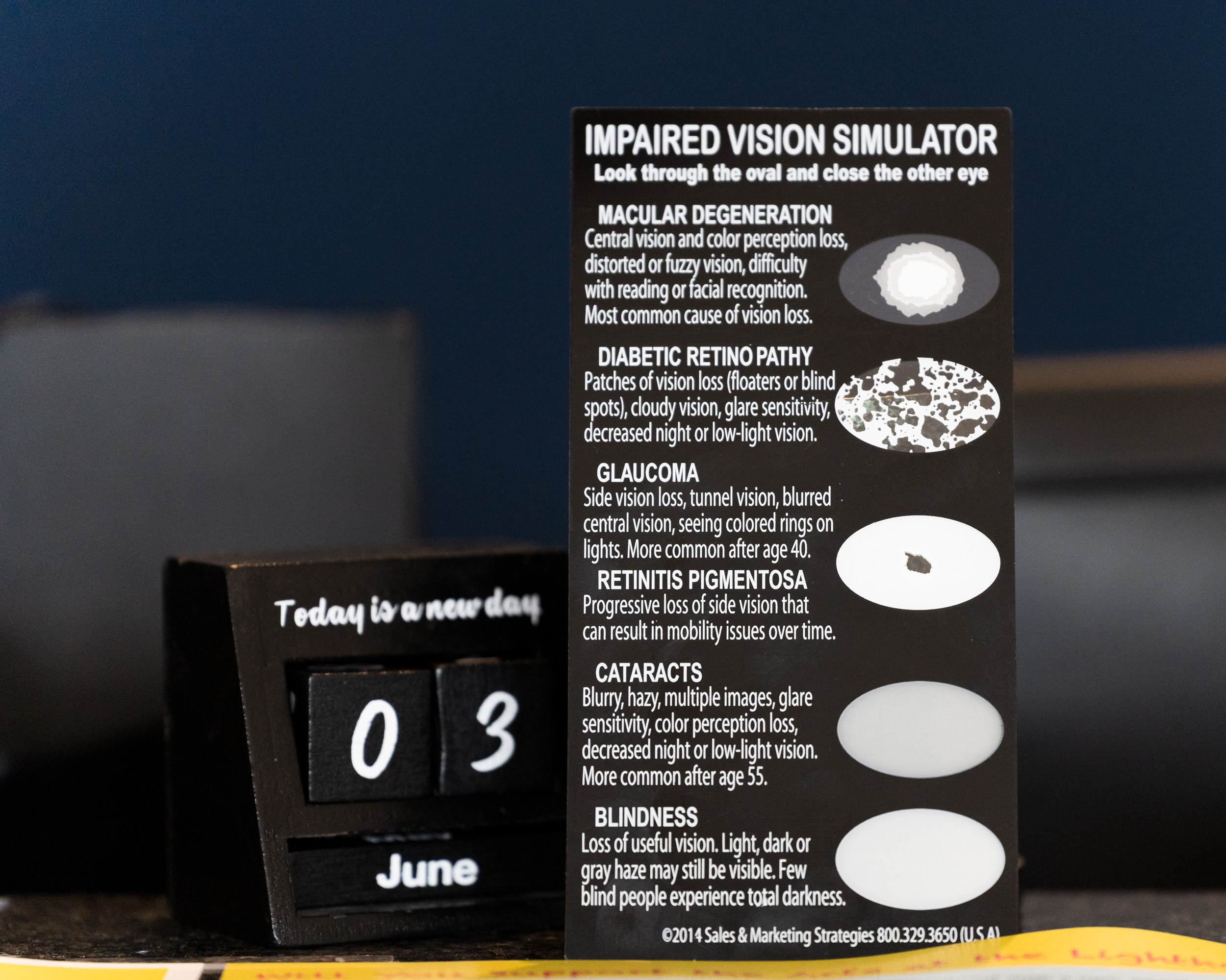 An impaired vision simulator