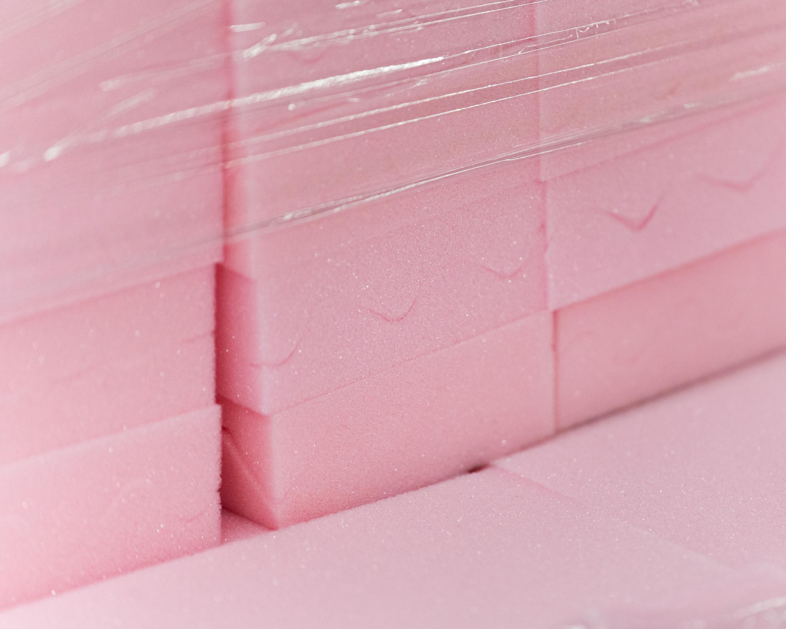 Pink foam pads